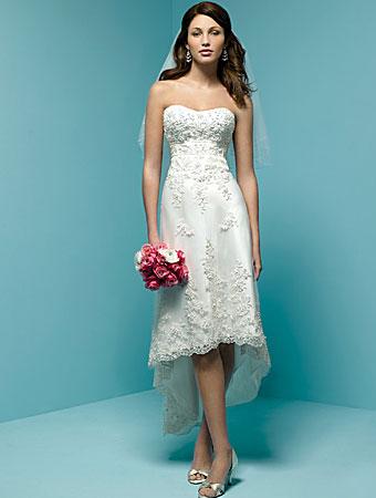 Красивое и легкое, удобное для невесты.