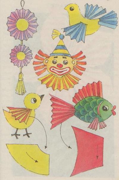 Поделки из бумаги схема сборки