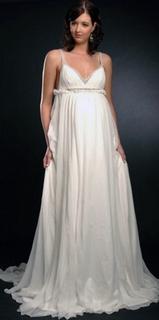 Платье в стиле ампир для невесты на достаточно большом сроке