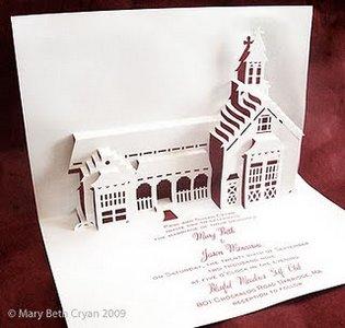 Эксклюзивное свадебное приглашение, в основе дизайна которого - место проведения свадьбы