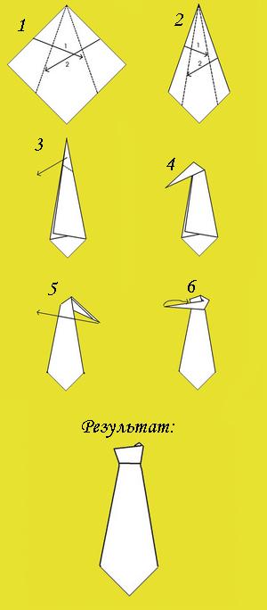 Салфетка галстук