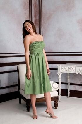 Зеленое платье (Bill Levkoff)