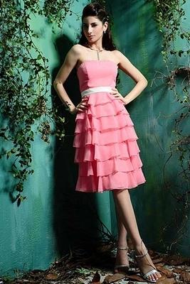 Платье отрезное по линии талии с воланами (Eden Bridals)