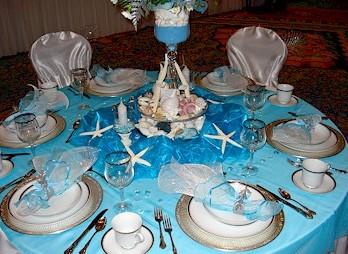 Сервировка в морском стиле