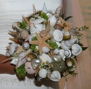 Морской букет для свадьбы