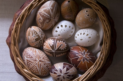 Пасхальные яйца украшение