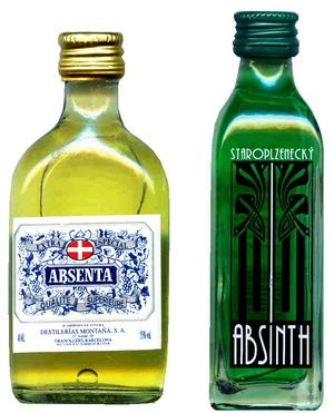 бутылки с абсентом