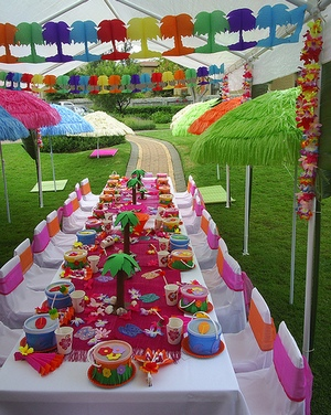 детский день рождения в гавайском стиле