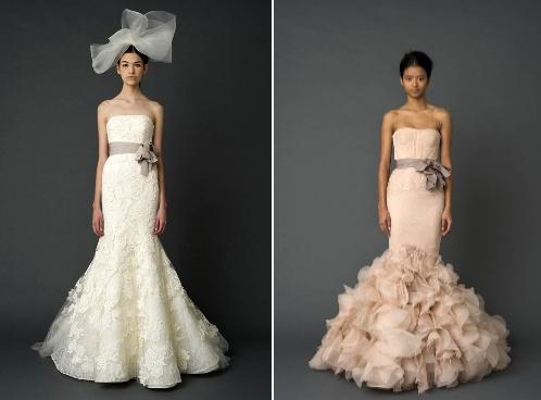 фасон свадебного платья русалка