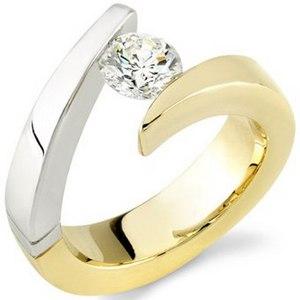 асимметричное обручальное кольцо