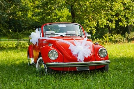 украшение свадебного автомобиля в стиле ретро