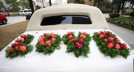 декор свадебного кортежа