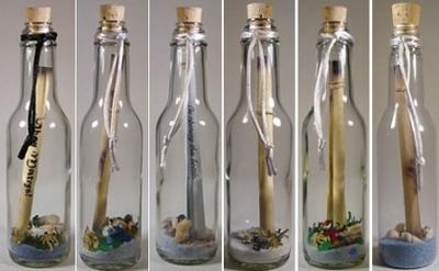 бутылки с загадками