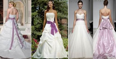 бело-фиолетовые свадебные платья