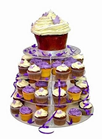пирожные для свадьбы в фиолетовом цвете