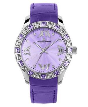 фиолетовые женские наручные часы в подарок