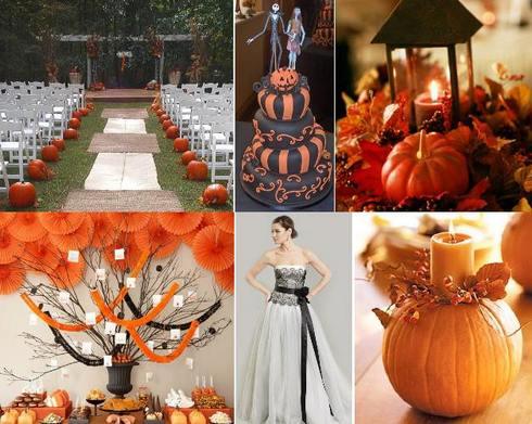 свадьба в стиле хэллоуин