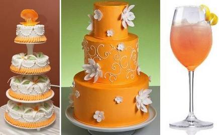 торт для оранжевой свадьбы