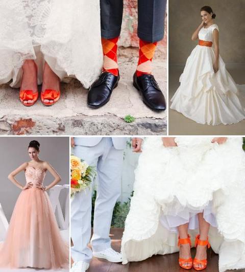 невеста на оранжевой свадьбе