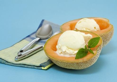 мороженое с дыней