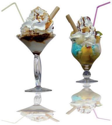 красивые десерты с мороженым