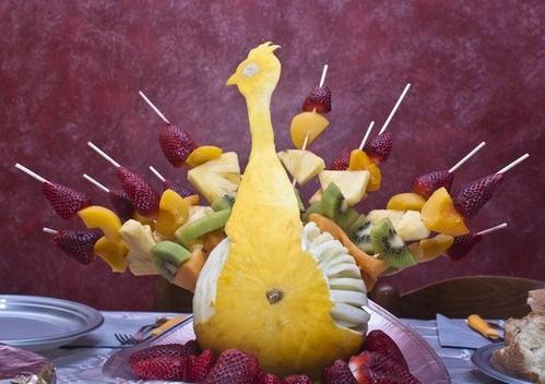 красивая подача фруктов: идеи