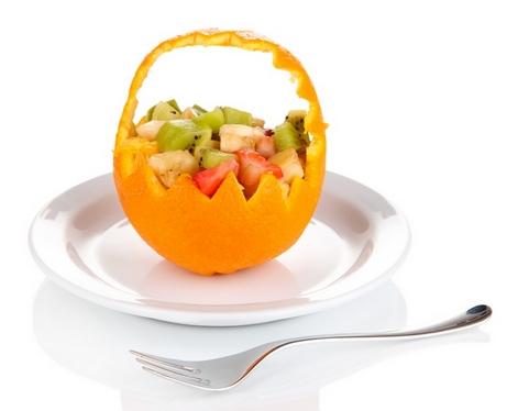 красивый фруктовый десерт