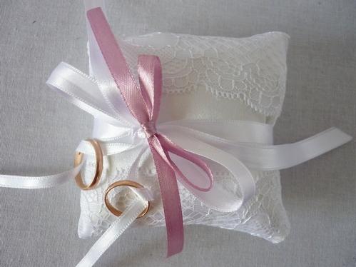 свадебная подушечка для колец своими руками: МК с фото