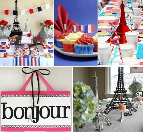 как украсить французскую вечеринку