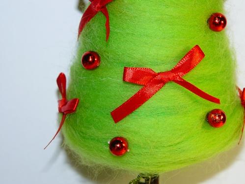 новогодняя елочка из шерсти своими руками