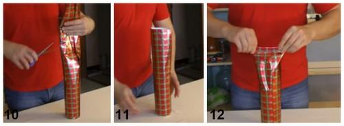как упаковать бутылку в бумагу