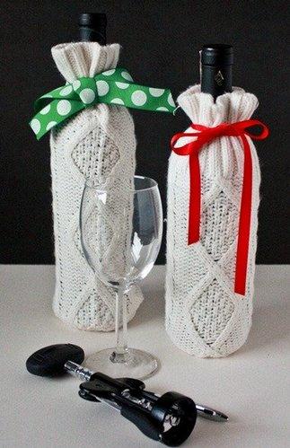 бутылка в вязаном чехле