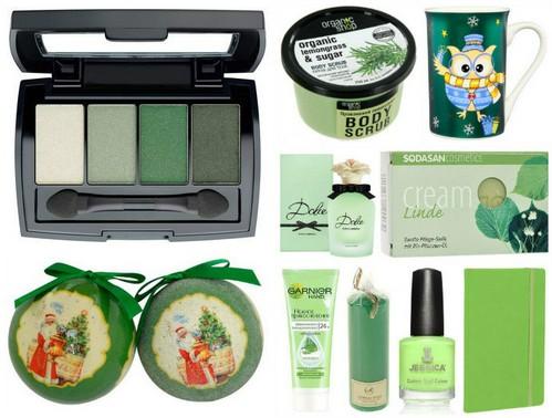 зеленый подарочный набор