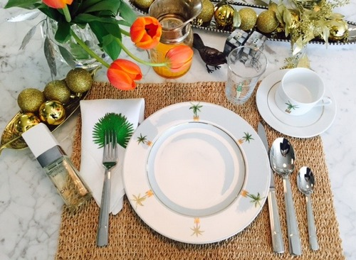 декор стола к праздничному завтраку